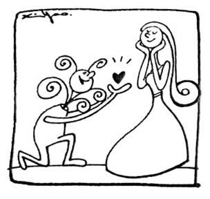 星空婚礼简笔手绘